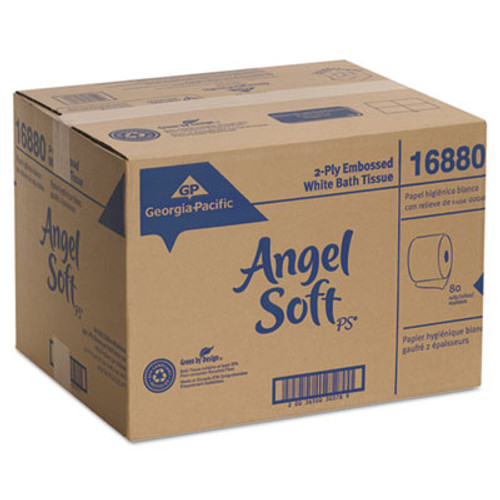 Georgia Pacific Professional Angel Soft ps Premium Bathroom Tissue, 450 Sheets/Roll, 40 Rolls/Carton (GPC16840)