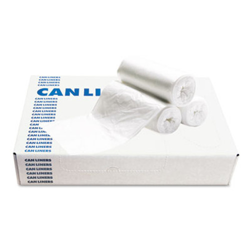 Boardwalk Low-Density Waste Can Liners  10 gal  0 4 mil  24  x 23   White  500 Carton (BWK 2423EXH)