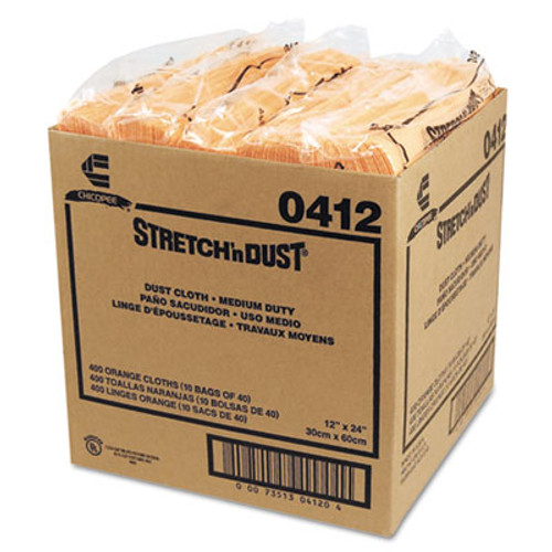 Chix Stretch 'n Dust Cloths  11 5 8 x 24  Yellow  40 Cloths Pack  10 Packs Carton (CHI 0412)