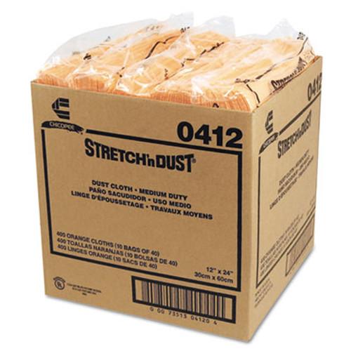 Chix Stretch 'n Dust Cloths  11 5 8 x 24  Yellow  40 Cloths Pack  10 Packs Carton (CHI 0412)