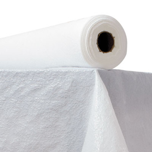 Atlantis Plastics Plastic Table Cover  40  x 300ft  White (ATL2TCWPBL)