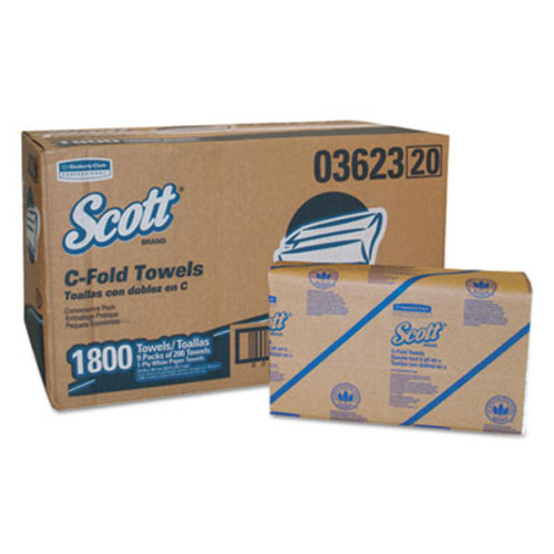 Scott Essential C-Fold Towels Convenience Pack  10 1 8 x 13 3 20  White  200 PK 9PK CT (KCC 03623)