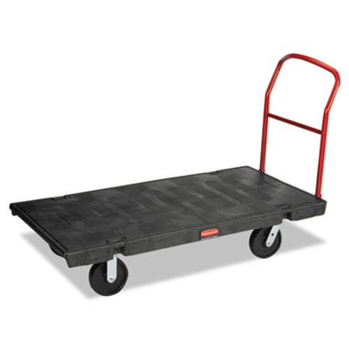 Rubbermaid Commercial Platform Truck  2 000 lb Capacity  30 x 60 x 7  Black (RCP 4471 BLA)