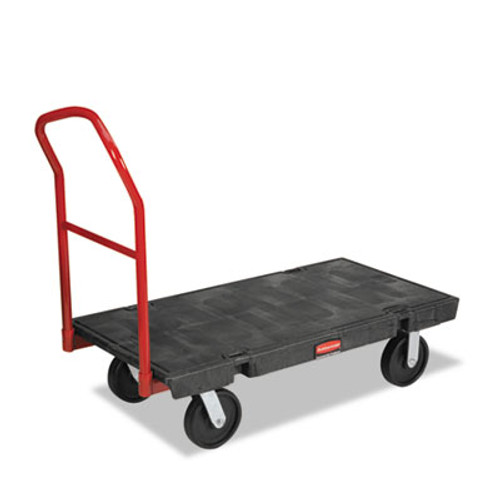 Rubbermaid Commercial Platform Truck  2 000 lb Capacity  24 x 48 x 7  Black (RCP 4441 BLA)