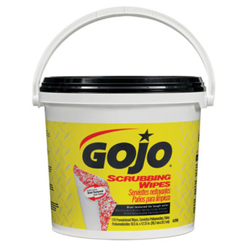 GOJO Scrubbing Towels, Hand Cleaning, 170/Bucket (GOJ 6398-02)