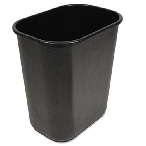 Boardwalk Soft-Sided Wastebasket  28 qt  Black (UNS 28QTWB BLA)