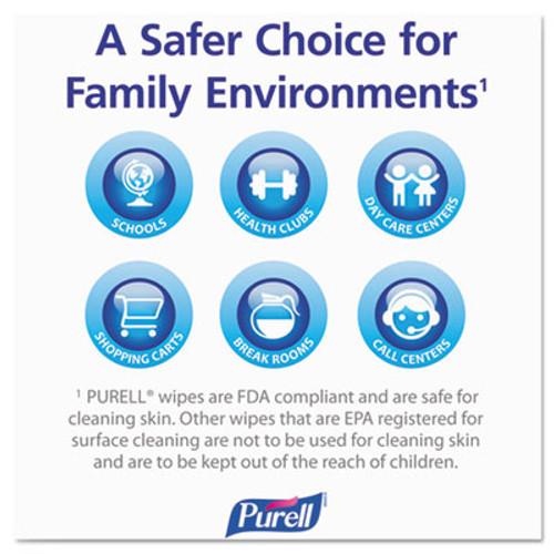 "PURELL Hand Sanitizing Wipes, 6"" x 8"", White, 1200/Refill Pouch, 2 Refills/Carton (GOJ 9118-02)"