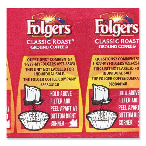 Folgers Coffee Premeasured Packs  Classic Roast  1 05 oz Vacket Pack  42 Carton (SMU 06931)