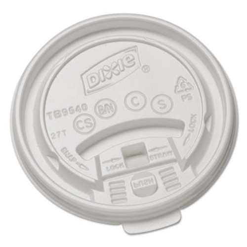 Dixie Plastic Lids for Hot Drink Cups, 10oz, White, 1000/Carton (DIX TB9540)