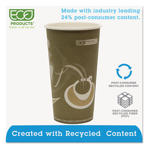 Eco-Products Evolution World 24  Recycled Content Hot Cups - 20oz   50 PK  20 PK CT (ECP EP-BRHC20-EW)