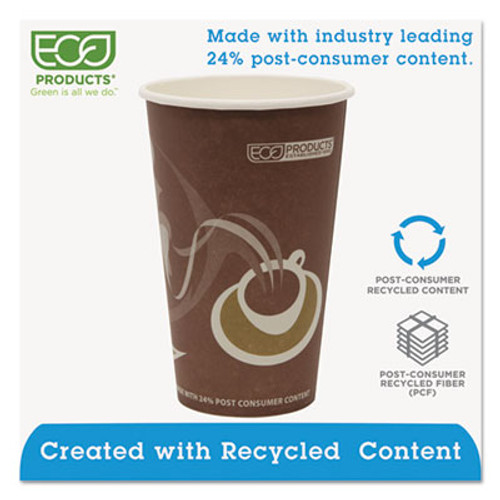 Eco-Products Evolution World 24  Recycled Content Hot Cups - 16oz   50 PK  20 PK CT (ECP EP-BRHC16-EW)