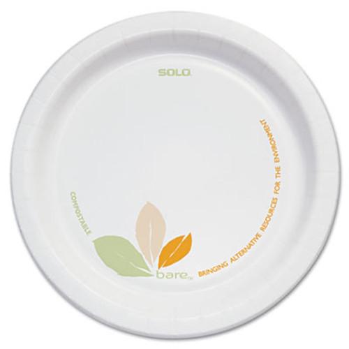 "SOLO Cup Company Bare Paper Eco-Forward Dinnerware, 6"" Plate, Green/Tan, 500/Carton (SCC OFMP6)"