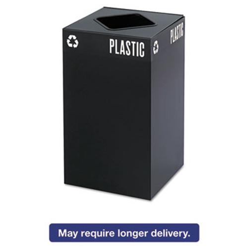 Safco Public Square Plastic-Recycling Container  Square  Steel  25 gal  Black (SAF2981BL)