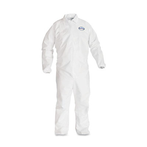 KleenGuard* A40 Elastic-Cuff Coveralls, White, 2X-Large, 25/Case (KCC 44315)