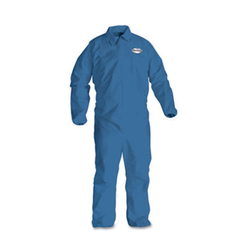 KleenGuard* A60 Elastic-Cuff & Back Coveralls, Blue, Large, 24/Case (KCC 45003)