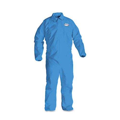 KleenGuard* A60 Elastic-Cuff & Back Coveralls, Blue, X-Large, 24/Case (KCC 45004)