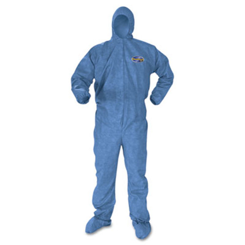 KleenGuard* A60 Blood and Chemical Splash Protection Coveralls, X-Large, Blue, 24/Carton (KCC 45094)