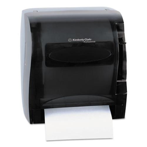 Kimberly-Clark Professional* Lev-R-Matic Roll Towel Dispenser  13 3 10w x 9 4 5d x 13 1 2h  Smoke (KCC 09765)