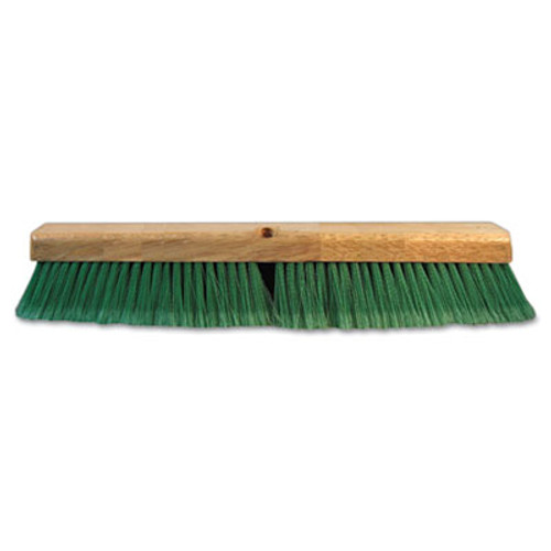 "Boardwalk Push Broom Head, 3"" Green Flagged Recycled PET Plastic, 24"" (BWK 20724)"