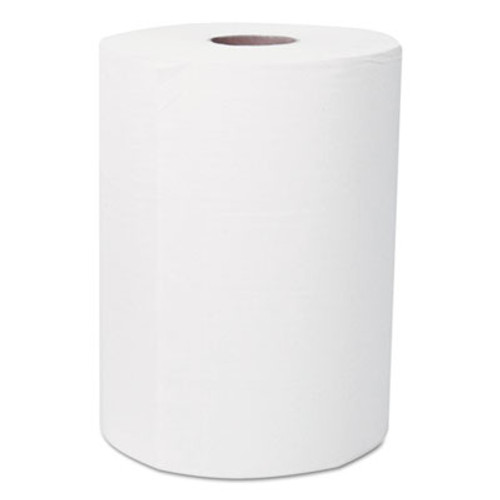 "Scott Slimroll Hard Roll Towels, 8"" x 580ft, White, Roll, 6 Rolls/Carton (KCC 12388)"