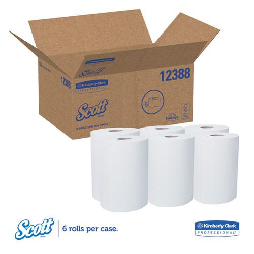 Scott Control Slimroll Towels  Absorbency Pockets  8  x 580ft  White  6 Rolls Carton (KCC 12388)