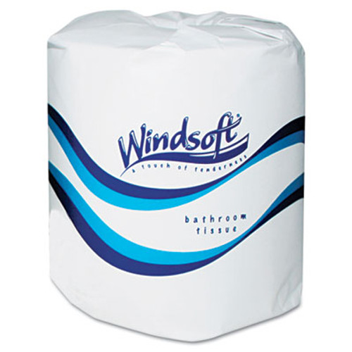 Windsoft Facial Quality Toilet Tissue, 2-Ply, Single Roll, 24 Rolls/Carton (WIN 2400)