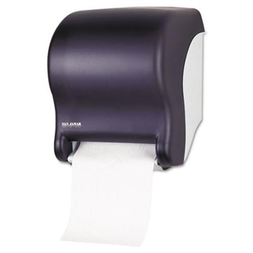 San Jamar Tear-N-Dry Essence Automatic Dispenser, Classic, Black, 11 3/4 x 9 1/8 x 14 7/16 (SAN T8000TBK)