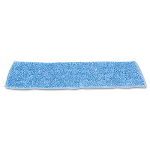 Rubbermaid Commercial Economy Wet Mopping Pad  Microfiber  18   Blue  12 Carton (RCP Q409 BLU)