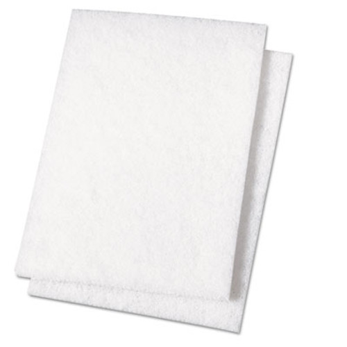 Boardwalk Light Duty Scour Pad  White  6 x 9  20 Carton (PAD 198)