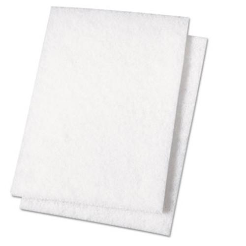 Boardwalk Light Duty Scour Pad  White  6 x 9  20 Carton (PAD 198)