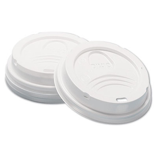 Dixie Dome Hot Drink Lids  8oz Cups  White  100 Sleeve  10 Sleeves Carton (DIX D9538)