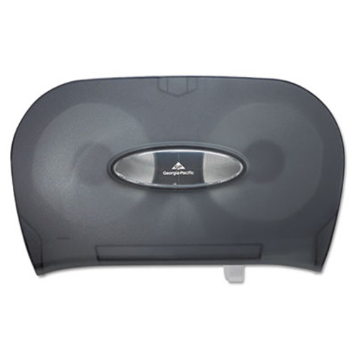 Georgia Pacific Two-Roll Bathroom Tissue Dispenser  13 56  x 5 75  x 8 63   Smoke (GPC 592-06)