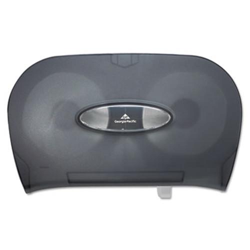 Georgia Pacific Two-Roll Bathroom Tissue Dispenser  13 56  x 5 75  x 8 63   Smoke (GPC 592-06)