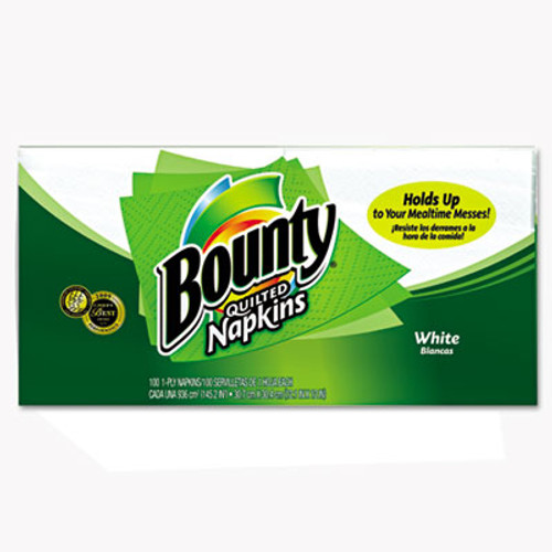 Bounty Quilted Napkins  1-Ply  12 1 x 12  White  100 Pack (PGC 34884)