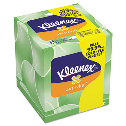 Kleenex Anti-Viral Facial Tissue, 3-Ply, 68 Sheets/Box (KIM25836BX)