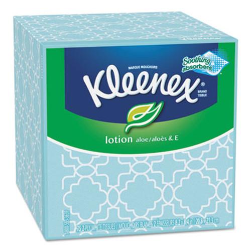 Kleenex Lotion Facial Tissue, 3-Ply, 75 Sheets/Box, 27 Boxes/Carton (KCC 25829)