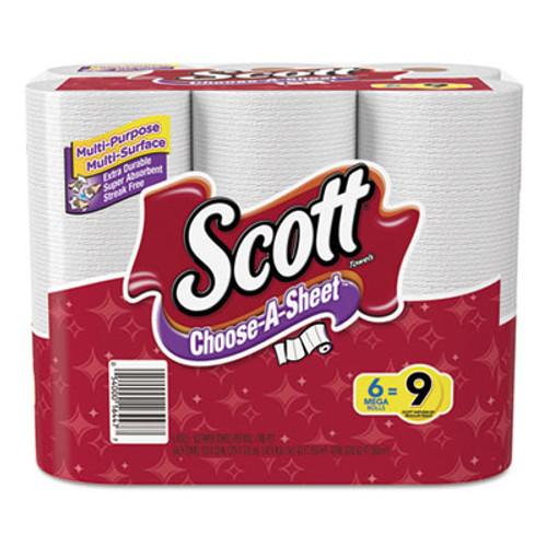 Scott Choose-a-Size Mega Roll  White  102 Roll  6 Rolls Pack  4 Packs Carton (KCC 16447)