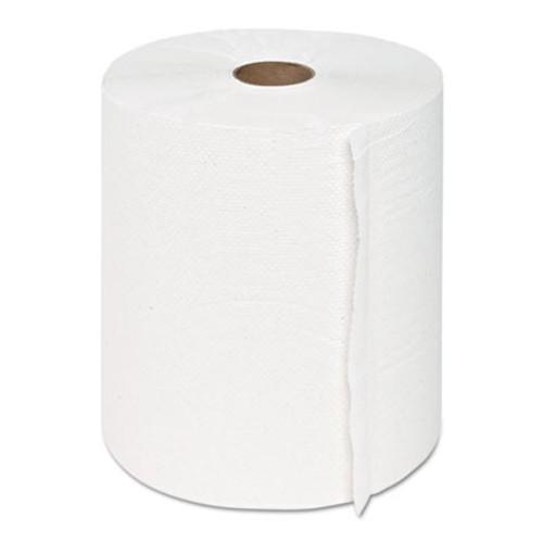 """GEN Hardwound Roll Towels, 1-Ply, White, 8"""" x 600 ft, 12 Rolls/Carton (GEN 1915)"""
