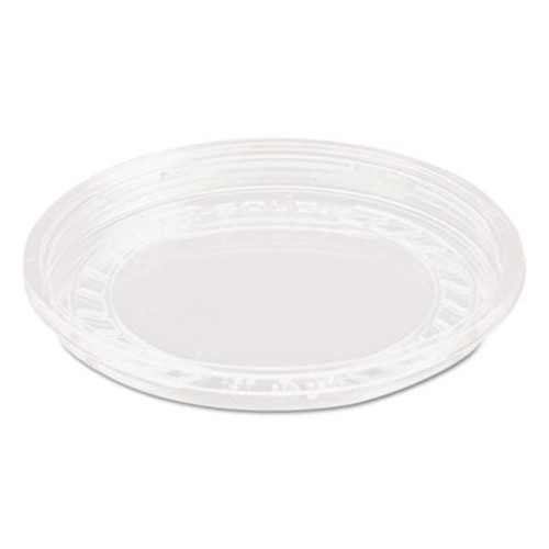 Dart Bare Eco-Forward RPET Deli Container Lids  8oz  Clear  50 Pack  10 Packs Carton (SCC LG8R)