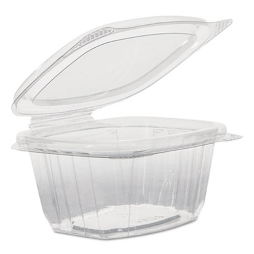 Genpak H-L Deli Containers, Clear, 6oz, 4.25w x 3.63d x 1.88h, 100/Pack, 4 Packs/Carton (GNP AD06)