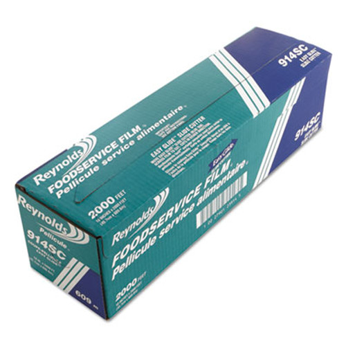 Reynolds Wrap PVC Food Wrap Film Roll in Easy Glide Cutter Box  18  x 2000 ft  Clear (REY 914SC)