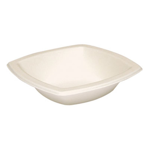 SOLO Cup Company Bare Eco-Forward Sugarcane Dinnerware, Bowl, 12oz, Ivory, 125/Pk, 8 Pks/Ct (SCC 12BSC)
