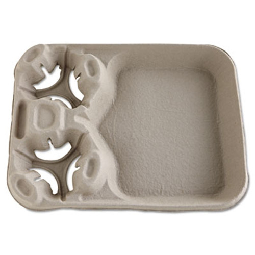 Chinet StrongHolder Molded Fiber Cup Food Trays  8-44oz  2-Cup Capacity  100 Carton (HUH FILM)