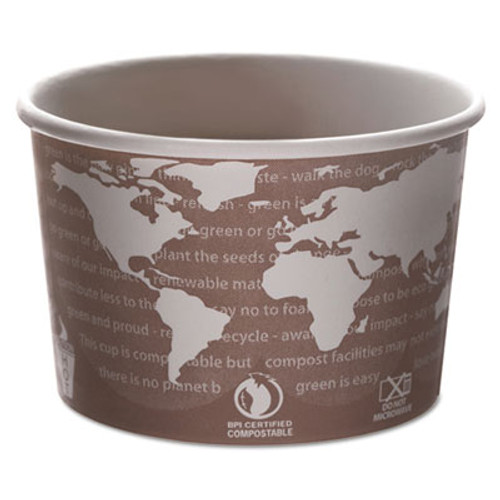 Eco-Products World Art Renewable and Compostable Food Container  8 oz  Brown  50 Pack  20 Packs Carton (ECP EP-BSC8-WA)