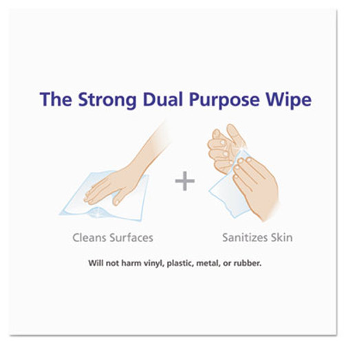 PURELL Sanitizing Hand Wipes  6 x 6 3 4  White  270 Canister  6 Canisters Carton (GOJ 9113-06)