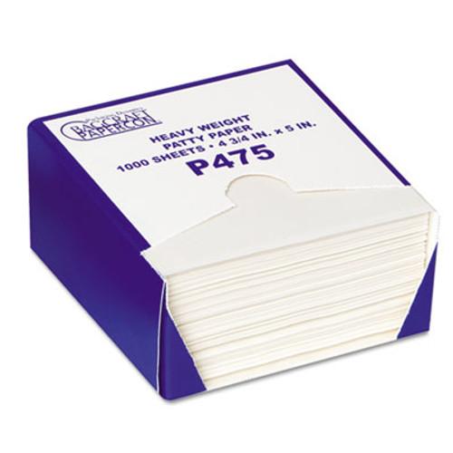 Bagcraft P475 DryWax Patty Paper Sheets  4 3 4 x 5  White  1000 Box  24 Boxes Carton (BGC 051475)