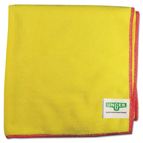 Unger SmartColor MicroWipes 4000  Heavy-Duty  16 x 15  Yellow Red  10 Case (UNG MF40Y)