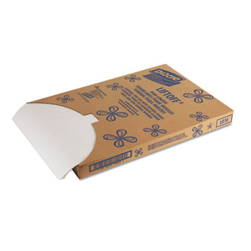 Dixie Greaseproof Liftoff Pan Liners  16 3 8 x 24 3 8  White  1000 Sheets Carton (DIX LO10)