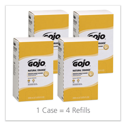 GOJO NATURAL ORANGE Smooth Lotion Hand Cleaner  2000 ml Bag-in-Box Refill  4 Carton (GOJ 7250)