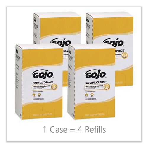 GOJO NATURAL ORANGE Smooth Lotion Hand Cleaner  2000 ml Bag-in-Box Refill  4 Carton (GOJ 7250)